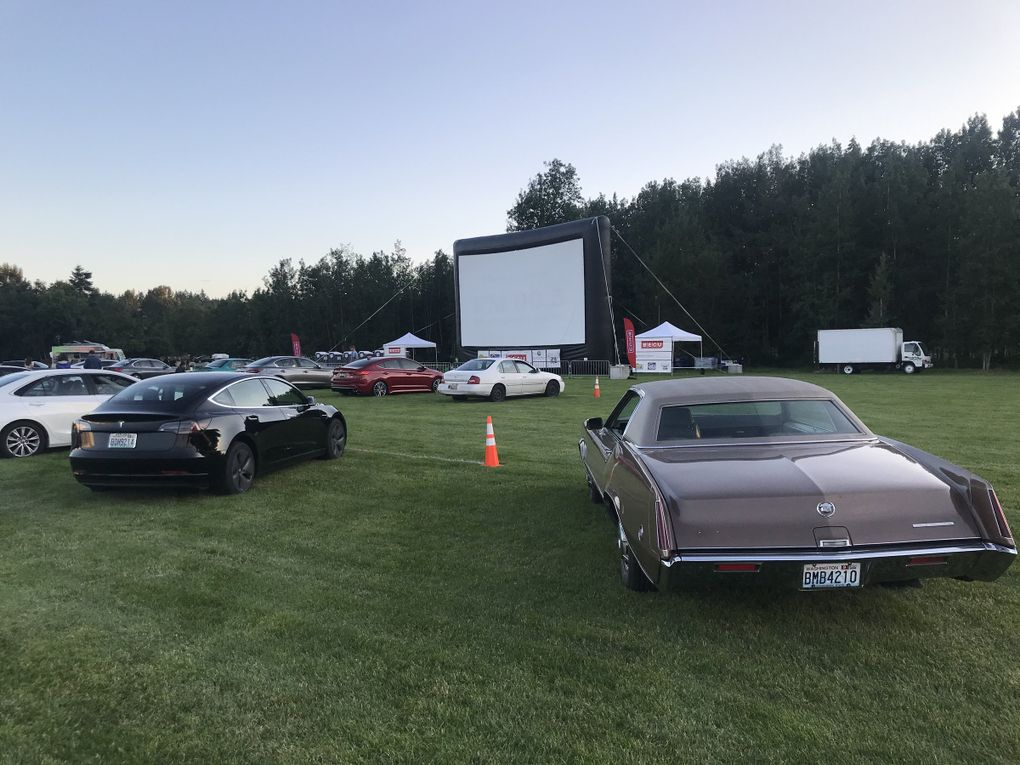 Marymoor Park in Redmond has become a drive-in movie theater this summer. (Epic Events)