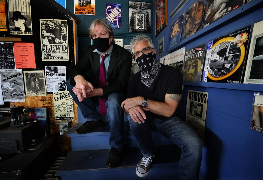 """Seattle-based author Garth Stein, right, and Everett illustrator Matthew Southworth released their new graphic novel """"The Cloven"""" via Georgetown's Fantagraphics on July 28. Here's what Stein has been reading lately. (Alan Berner / The Seattle Times)"""