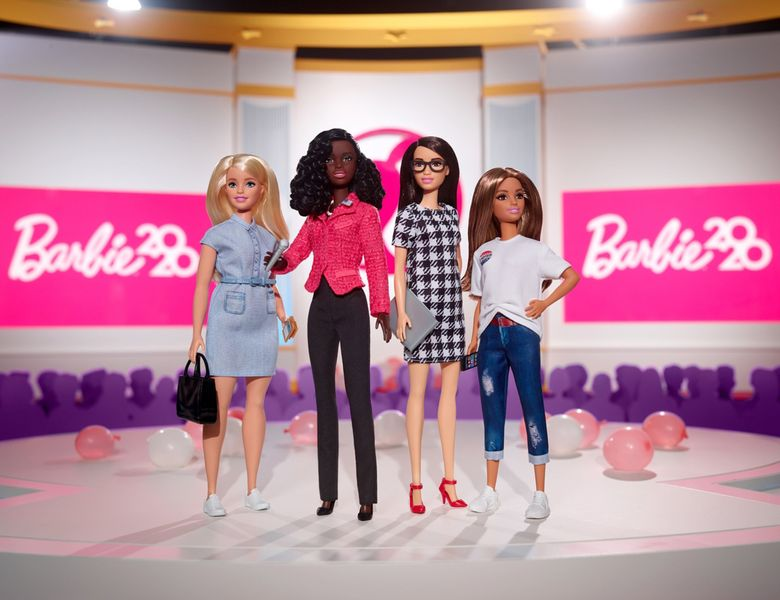 The 2020 Campaign Team collection marks Barbie's seventh presidential run and is part of a collaboration between Barbie and She Should Run — a nonpartisan nonprofit that encourages women to run for office. The Barbie candidate this election season is Black. (Mattel / TNS)