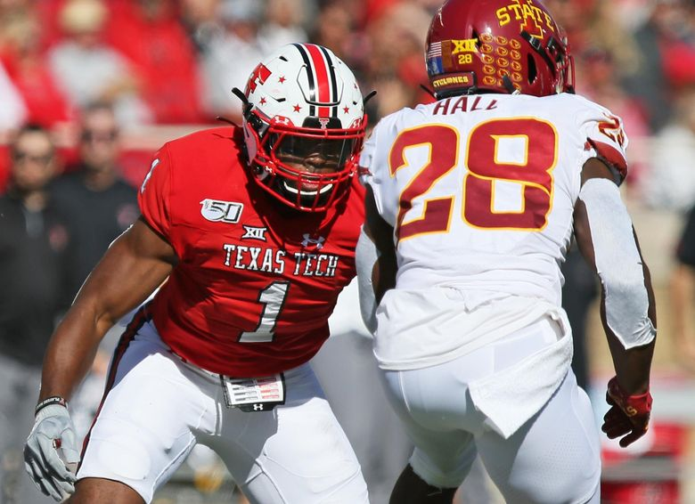Former Texas Tech standout Jordyn Brooks will start out at weakside linebacker at Seahawks training camp, coach Pete Carroll said. (Sam Grenadier/A-J Media)