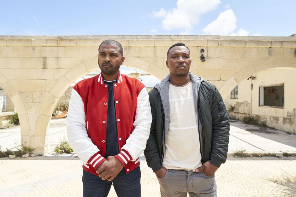 """The CW's """"Bulletproof"""" stars Noel Clarke, left, and Ashley Walters. (Sky UK Limited)"""