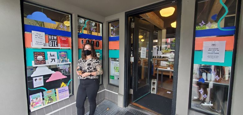 Danielle Hulton, co-owner of the Ada's franchise of community coffee shops in Seattle, expanded her chain this month to include three Fuel coffee locations in Seattle. (David Hulton / Special to The Seattle Times)