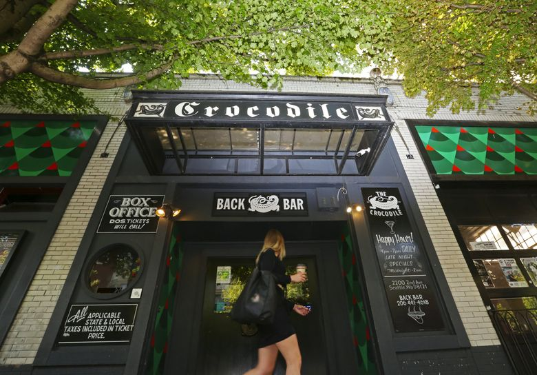 One of Seattle's classic music venues since the 1990s, the Crocodile is one of nearly three dozen venues to receive financial relief grants distributed by King County. (Ken Lambert / The Seattle Times, file)