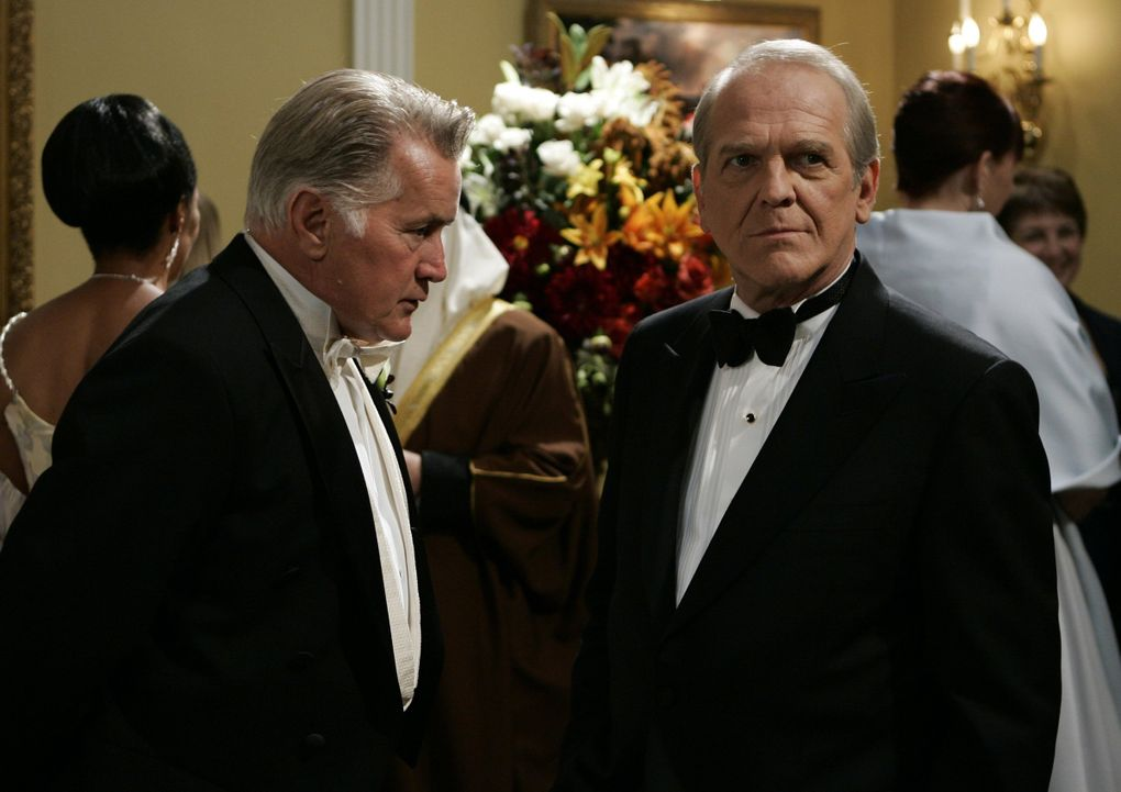 """Martin Sheen as President Josiah Bartlet, left, and John Spencer as Leo McGarry were resplendent in TV series """"The West Wing,"""" but the show doesn't quite hold up today, says UW assistant professor Stephen Groening. (Mitchell Haddad/ NBC / Associated Press, file)"""