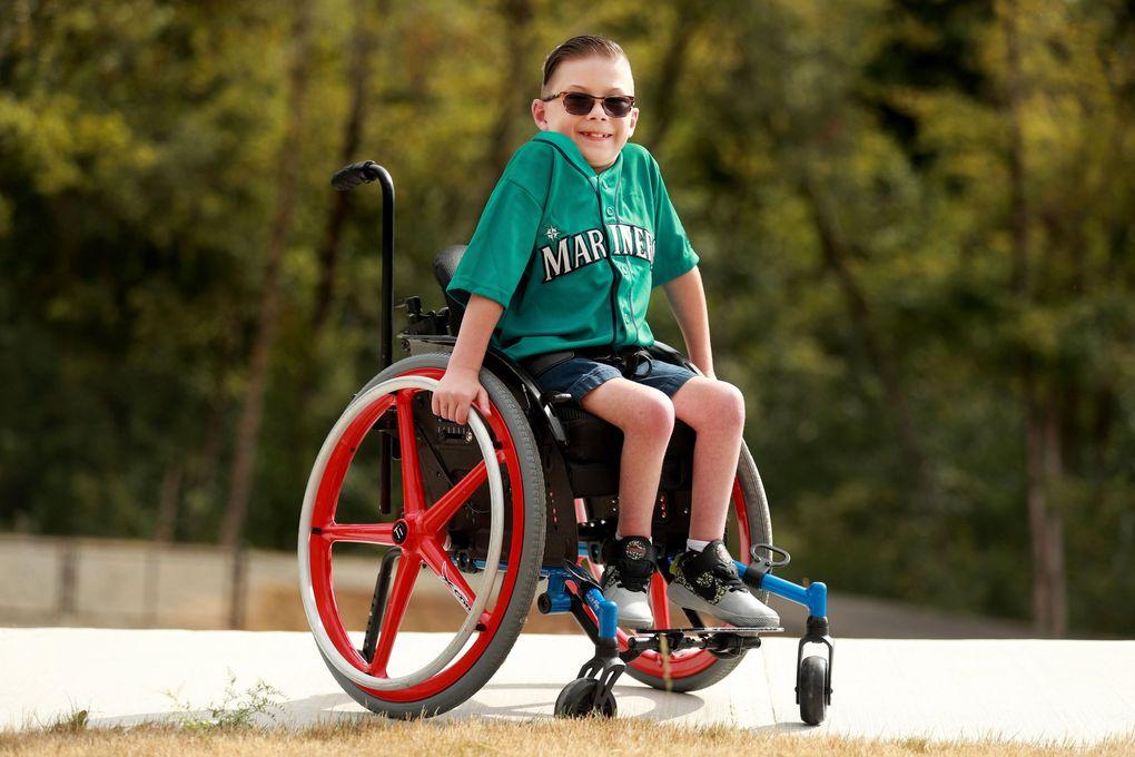 Tucker Schreckenghost, 9, near his home in Auburn. (Erika Schultz / The Seattle Times)