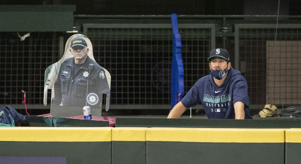 Pierre Thiry has done off-duty security work for the Mariners since their first game in 1977. (Dean Rutz / The Seattle Times)