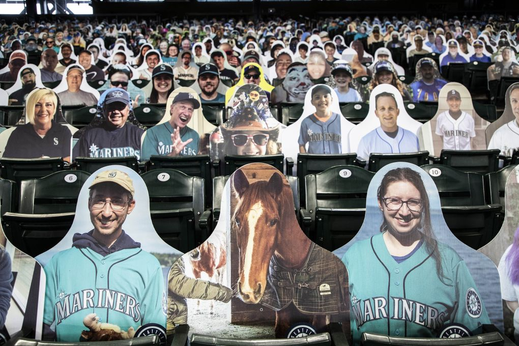 Sierra the horse is one of nine cutouts the Nolan family of Whidbey Island purchased. (Dean Rutz / The Seattle Times)