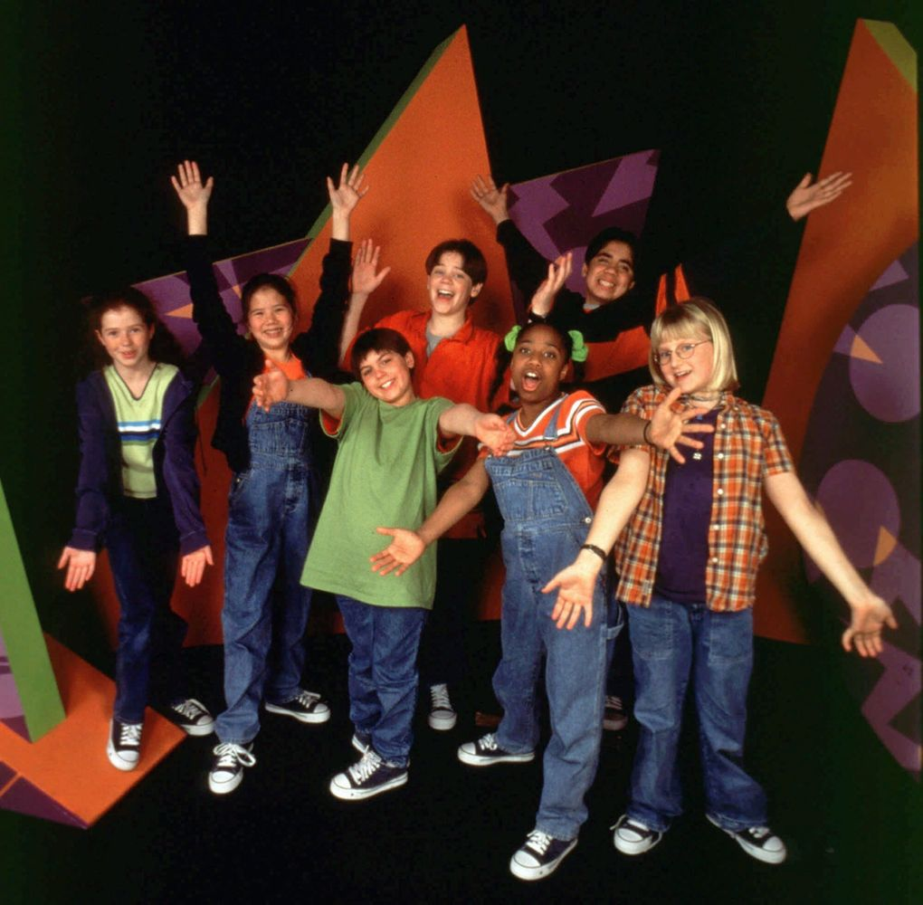 """This 1998 promotional photo shows the cast of the popular PBS children's show """"Zoom."""" The Emmy award-winning show, which was produced by Boston's WGBH-TV, featured riddles, games, experiments and more. (The Associated Press / WGBH)"""