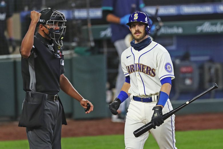 Austin Nola is headed to the Padres as part of a seven-player trade. (Ken Lambert / The Seattle Times)