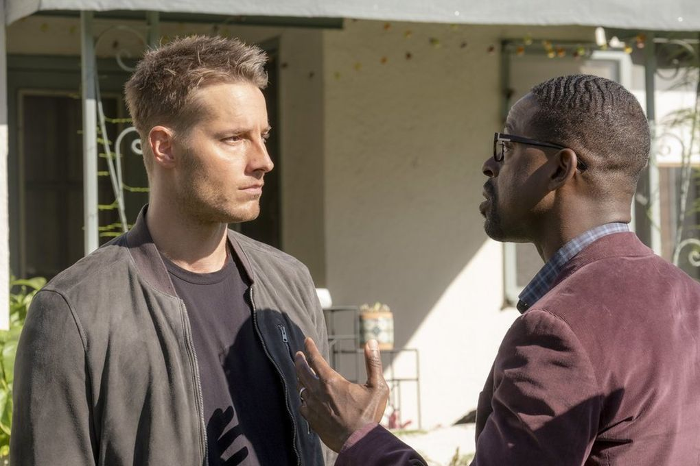 """NBC dramas begin to return with new episodes in November, including """"This is Us,"""" with Justin Hartley (left) and Sterling K. Brown. (Ron Batzdorff / NBC)"""