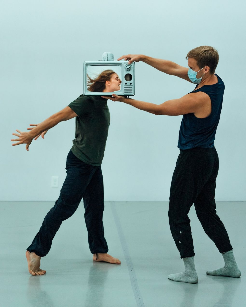 Whim W'Him dancers Jane Cracovaner and Karl Watson rehearse a new work by Madison Olandt and Mike Tyus for Choreographic Shindig VI. (Stefano Altamura)