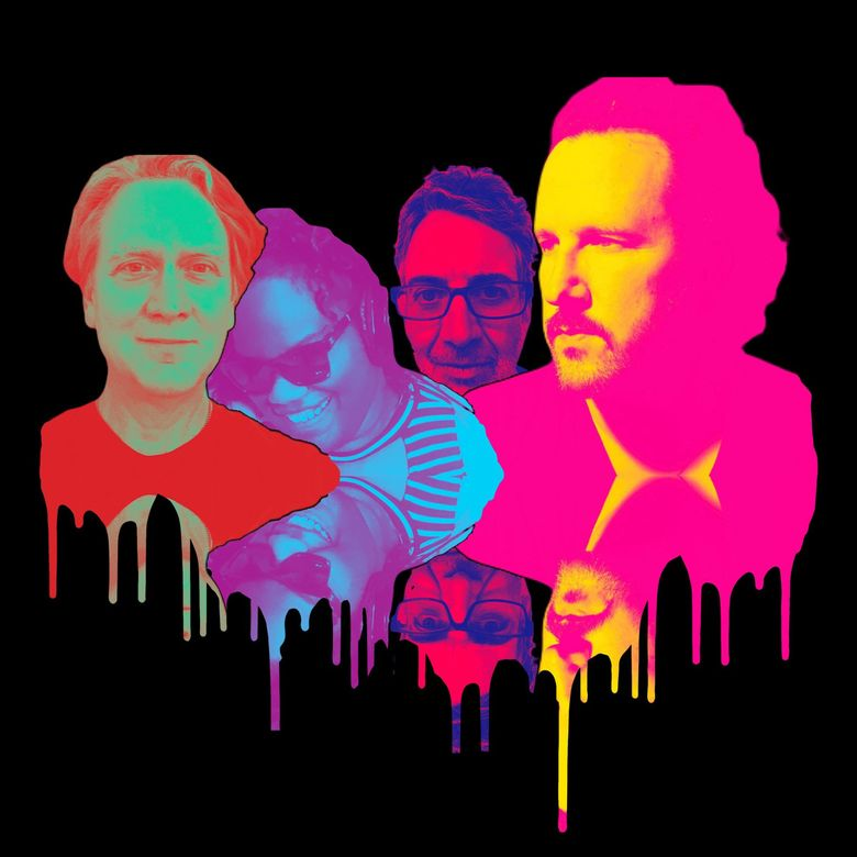 Painted Shield is a new project from Matt Chamberlain, left, Brittany Davis, Stone Gossard and Mason Jennings. (Courtesy of Painted Shield)