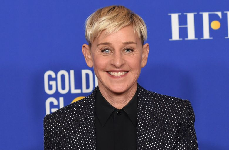 """FILE – Ellen DeGeneres poses in the press room at the 77th annual Golden Globe Awards on Jan. 5, 2020, in Beverly Hills, Calif. DeGeneres says she'll be ready to talk when her daytime show returns this month after a staff shake-up prompted by allegations of a toxic workplace. """"I can't wait to get back to work and back to our studio. And, yes, we're gonna talk about it,"""" DeGeneres said in a statement announcing the show's Sept. 21, 2020, start of its 18th season. (AP Photo/Chris Pizzello, File)"""