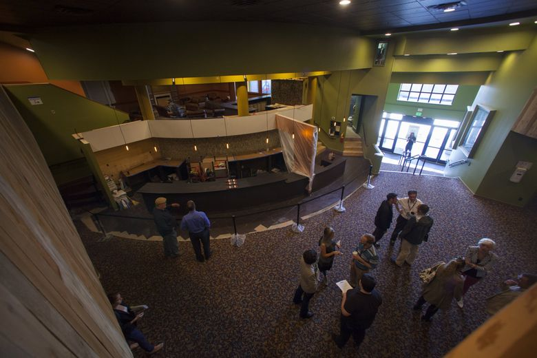 The AMC Seattle 10, formerly known as the Sundance Cinemas, is one of 14 AMC movie theaters in Washington state that will reopen on Friday, Oct. 16.   (Ellen M. Banner/The Seattle Times, file photo)