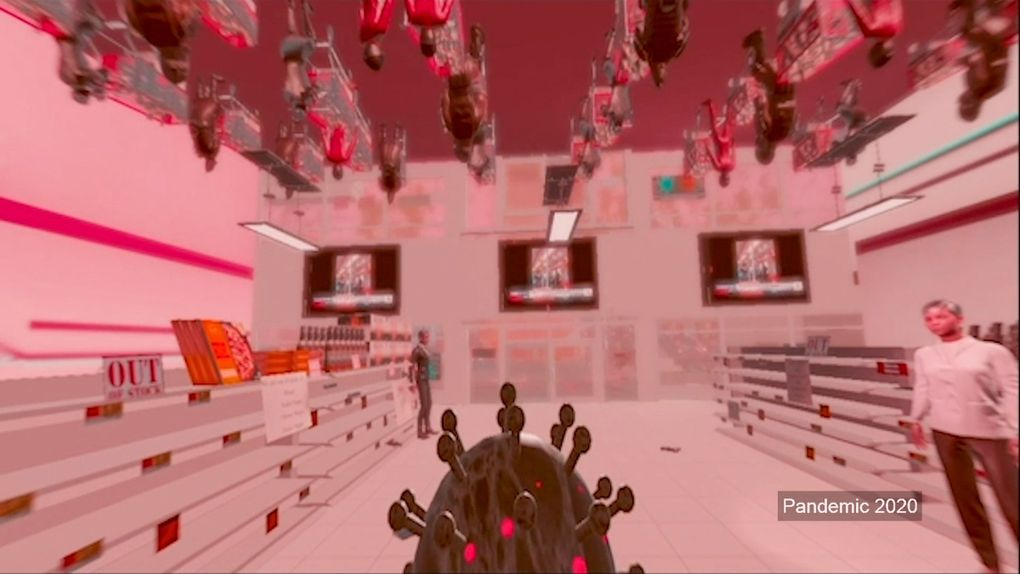 """""""Pandemic 2020"""" is an experiential video game created by UW Ph.D. candidate Chanhee Choi, who was motivated to make the game in part by some racist encounters she experienced. The game is not yet finished. (Kiyomi Taguchi / UW News)"""