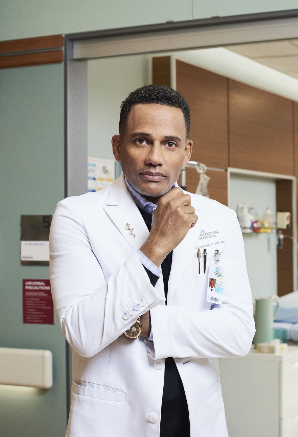 """Hill Harper stars in """"The Good Doctor,"""" which incorporates the pandemic into its storyline. (Courtesy of ABC)"""