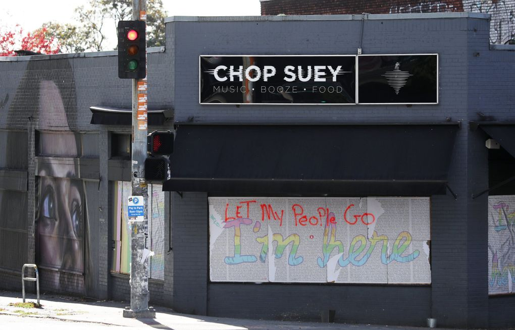 The closed Chop Suey music venue is seen Wednesday, Oct. 14, 2020 in Seattle's Capitol Hill neighborhood during the pandemic. (Ken Lambert / The Seattle Times)