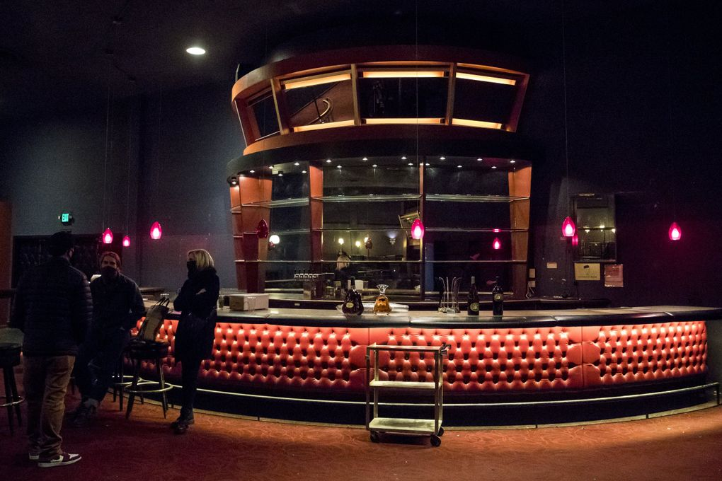 The inside of the old El Gaucho, where the Crocodile is moving. The bar will stay put, while  the lower level Pampas Room that once hosted burlesque and jazz shows will become a 300-capacity sibling club. (Amanda Snyder / The Seattle Times)