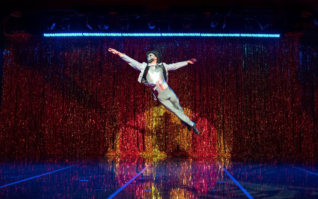 """In the 2020 workshop production of Phase 2 of """"The Harlem Nutcracker,"""" titled """"Time Travel,"""" Spectrum Dance Theater company artist Andrew Pontius manifests as Death's minion in one of Clara's flashbacks. (Marcia Davis)"""