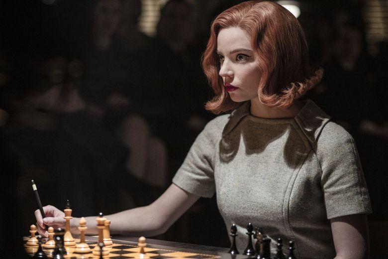 "Anya Taylor-Joy stars as Beth Harmon in ""The Queen's Gambit"" on Netflix. (Phil Bray / Netflix)"