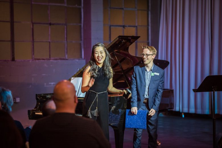 Kristin Lee, left, and Andrew Goldstein, artistic and executive directors, respectively, of Emerald City Music. Lee and Goldstein spearheaded the This is Beethoven virtual festival taking place Dec. 16-19. (Carlin Ma)