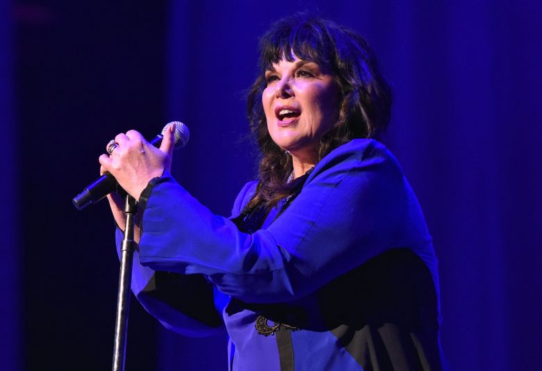 """Ann Wilson of Heart performs during the """"Love Alive Tour"""" at the Hollywood Casino Amphitheater on July 11, 2019, in Chicago. (Rob Grabowski / Invision / The Associated Press)"""