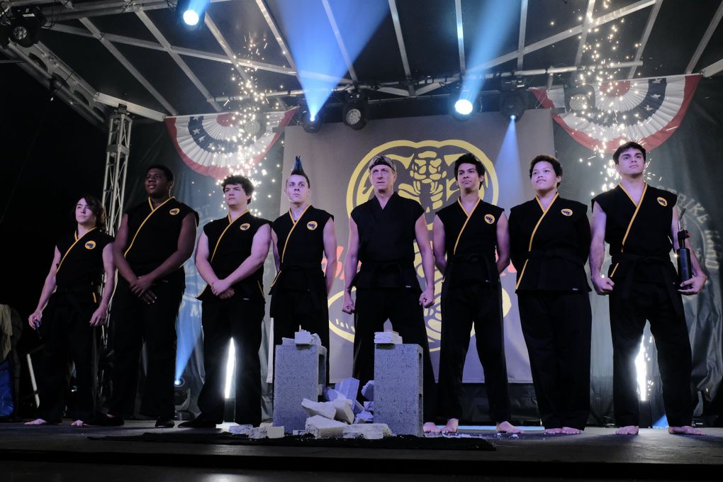"""The third season of """"Cobra Kai"""" debuted on Netflix on Jan. 1. The series is a remake of the original """"Karate Kid"""" franchise from the 1980s and 1990s. (Guy D'Alema / Netflix)"""
