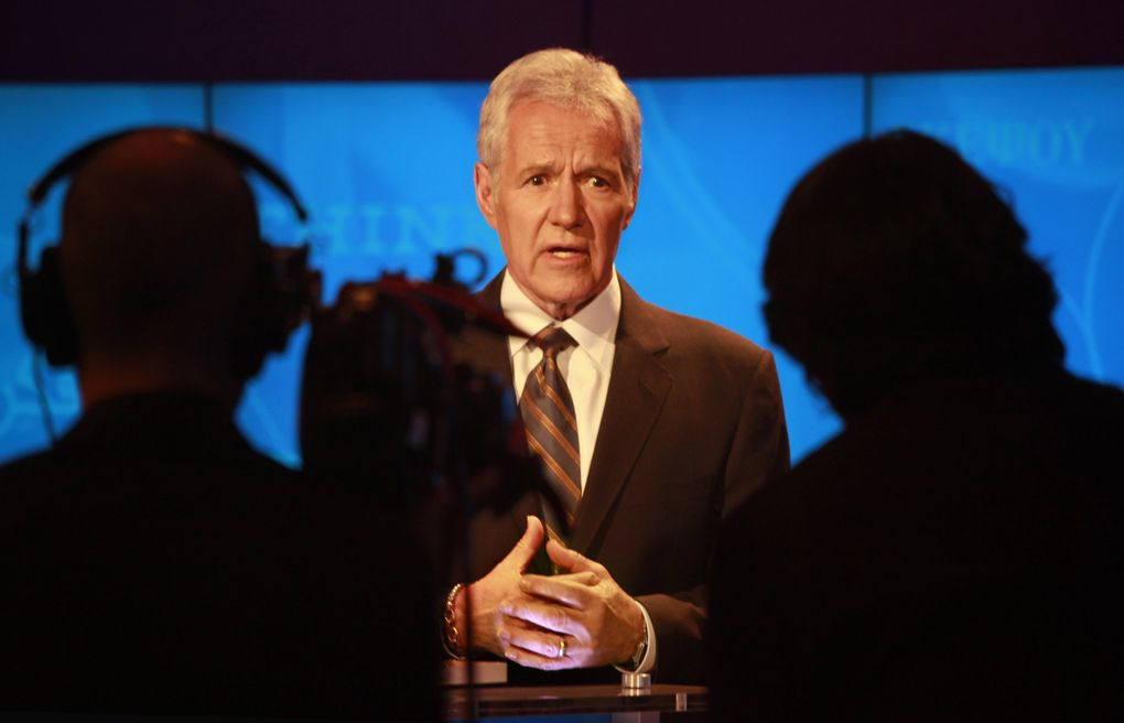 """Alex Trebek, who hosted quiz show """"Jeopardy!"""" for more than 30 years, died Nov. 8 at age 80.  (Carolyn Cole / Los Angeles Times / TNS)"""