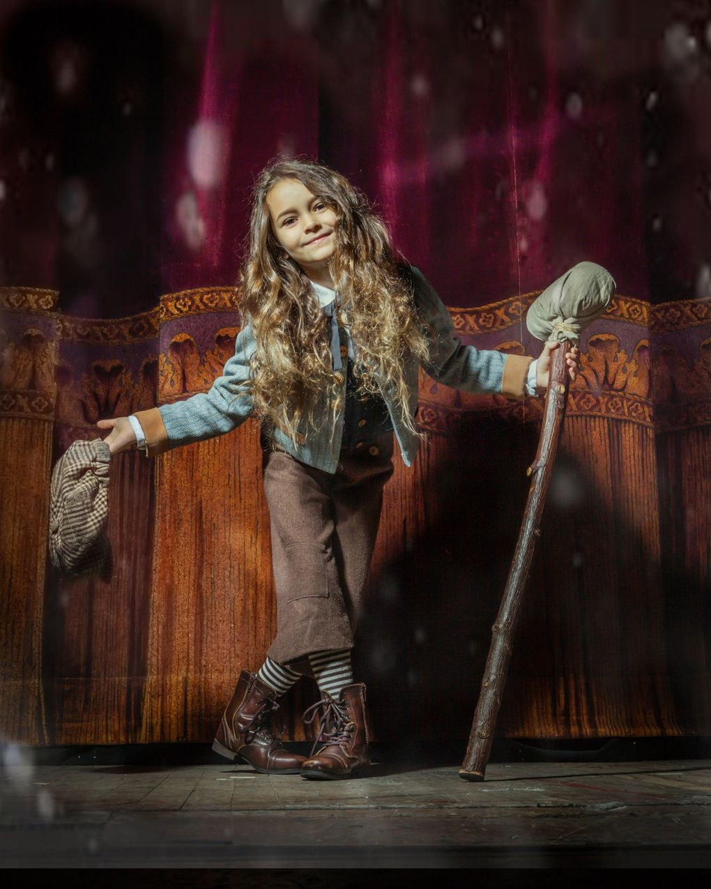 """Piper Harden played Tiny Tim in ACT's """"A Christmas Carol"""" in 2019. She's reprising her role this year in ACT's radio-play-style production. (Rosemary DaiRoss)"""