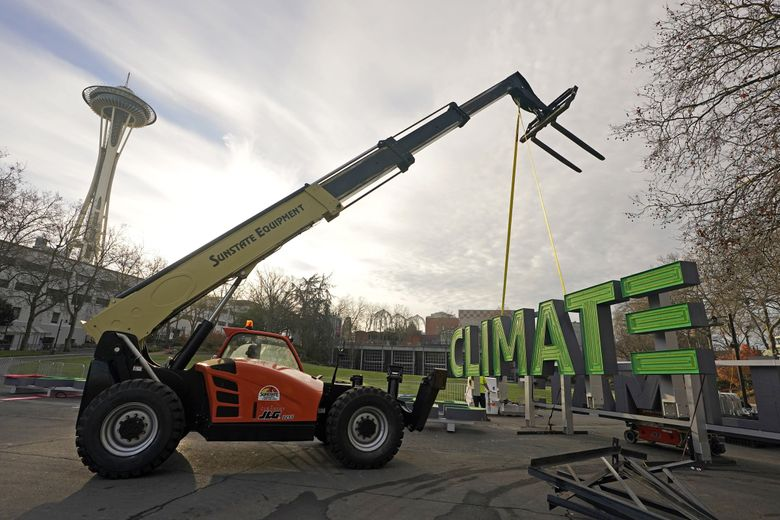 NHL games at Climate Pledge Arena are scheduled to start in October.  (Ted S. Warren / The Associated Press)