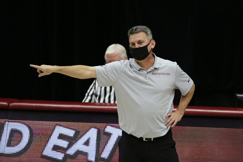 Washington State men's basketball coach Kyle Smith during a game against Oregon State on Wednesday in Pullman. (Young Kwak / The Associated Press)