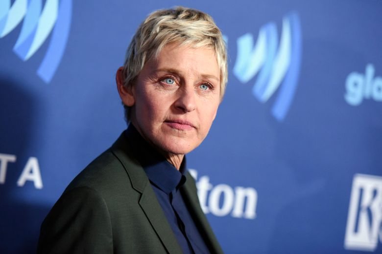 """Ellen DeGeneres said she has tested positive for COVID-19 but is """"feeling fine right now."""" The producer of her daytime talk show says production has been put on hold until January. (Photo by Richard Shotwell / Invision/AP, file)"""