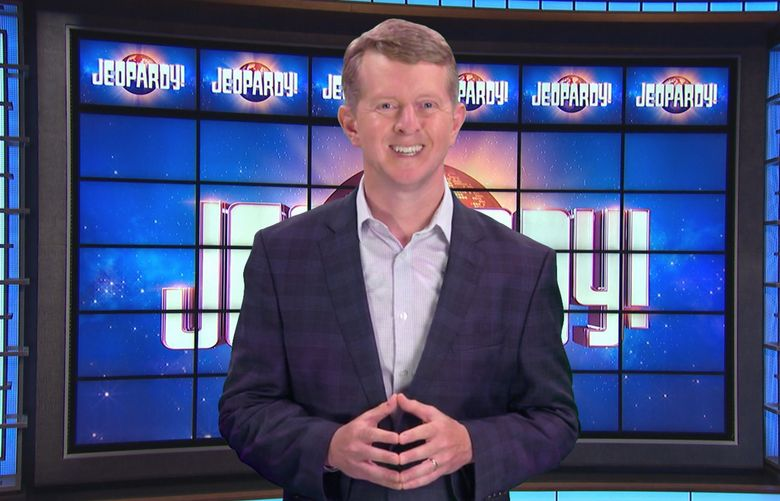 """Seattle's Ken Jennings begins his stint guest hosting """"Jeopardy!"""" on Jan. 11. (Courtesy of Jeopardy Productions Inc.)"""