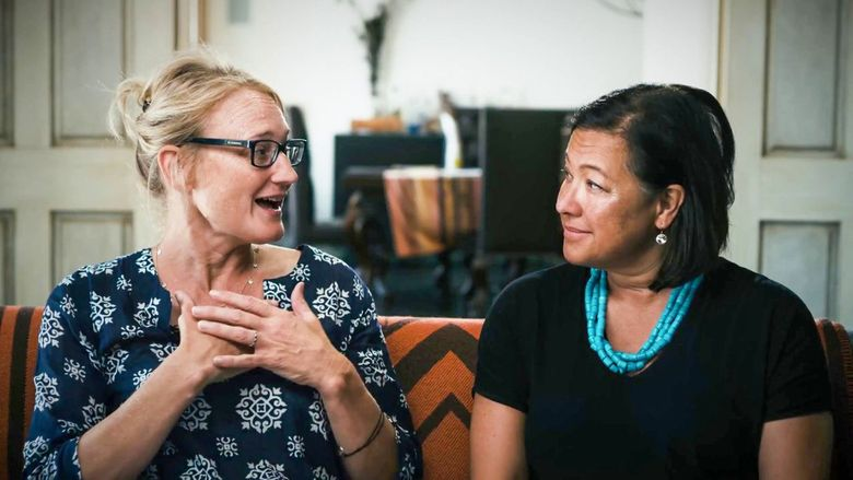"""Film producer Karin Gornick and IndieFlix co-founder and CEO Scilla Andreen, co-creators of """"Angst."""" (Courtesy of IndieFlix)"""
