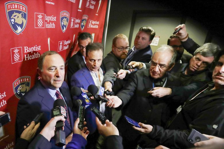NHL commissioner Gary Bettman said the league will lose more money this season by playing than by not playing but said it is important for the fans and the game. (Wilfredo Lee / AP, file)