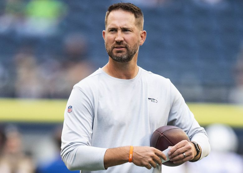 The Seahawks on Tuesday announced they were parting ways with offensive coordinator Brian Schottenheimer.(Dean Rutz / The Seattle Times)