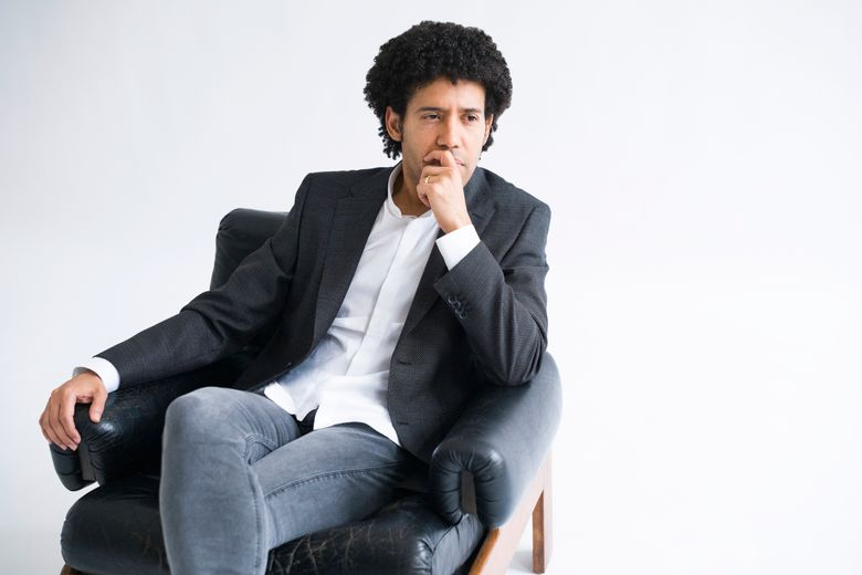 This March 10, 2020 photo shows Venezuelan conductor Rafael Payare who has been hired as music director of the Orchestre Symphonique de Montréal starting with the 2022-23 season. (Gerard Collett via AP)