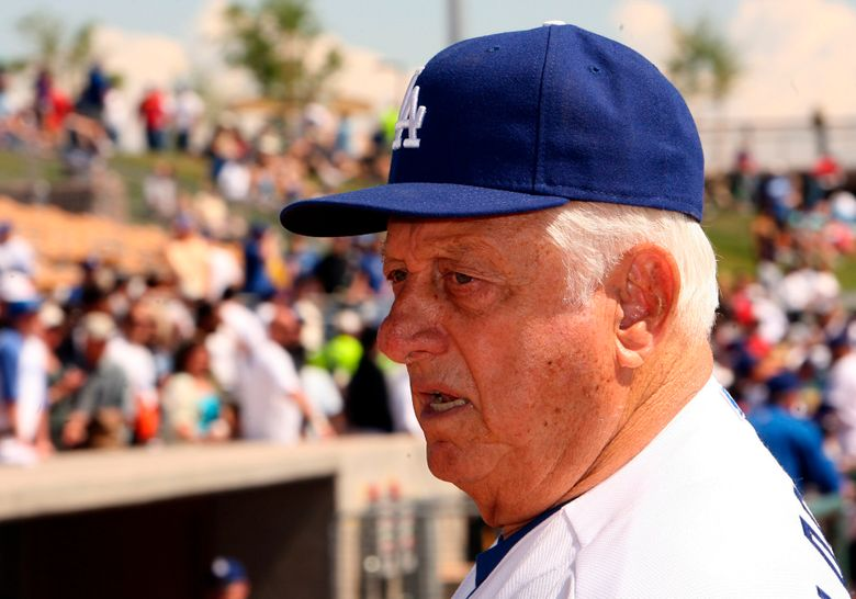 Hall of Fame and former Los Angeles Dodgers manager Tommy Lasorda passed away at the age of 93. Former Los Angeles Dodger manager Tommy Larsorda before a baseball game between Korea and the Los Angeles Dodgers at Camelback Ranch Stadium on Thursday March 12. 2009 in Glendale, Arizona. (Keith Birmingham/The Orange County Register via AP)