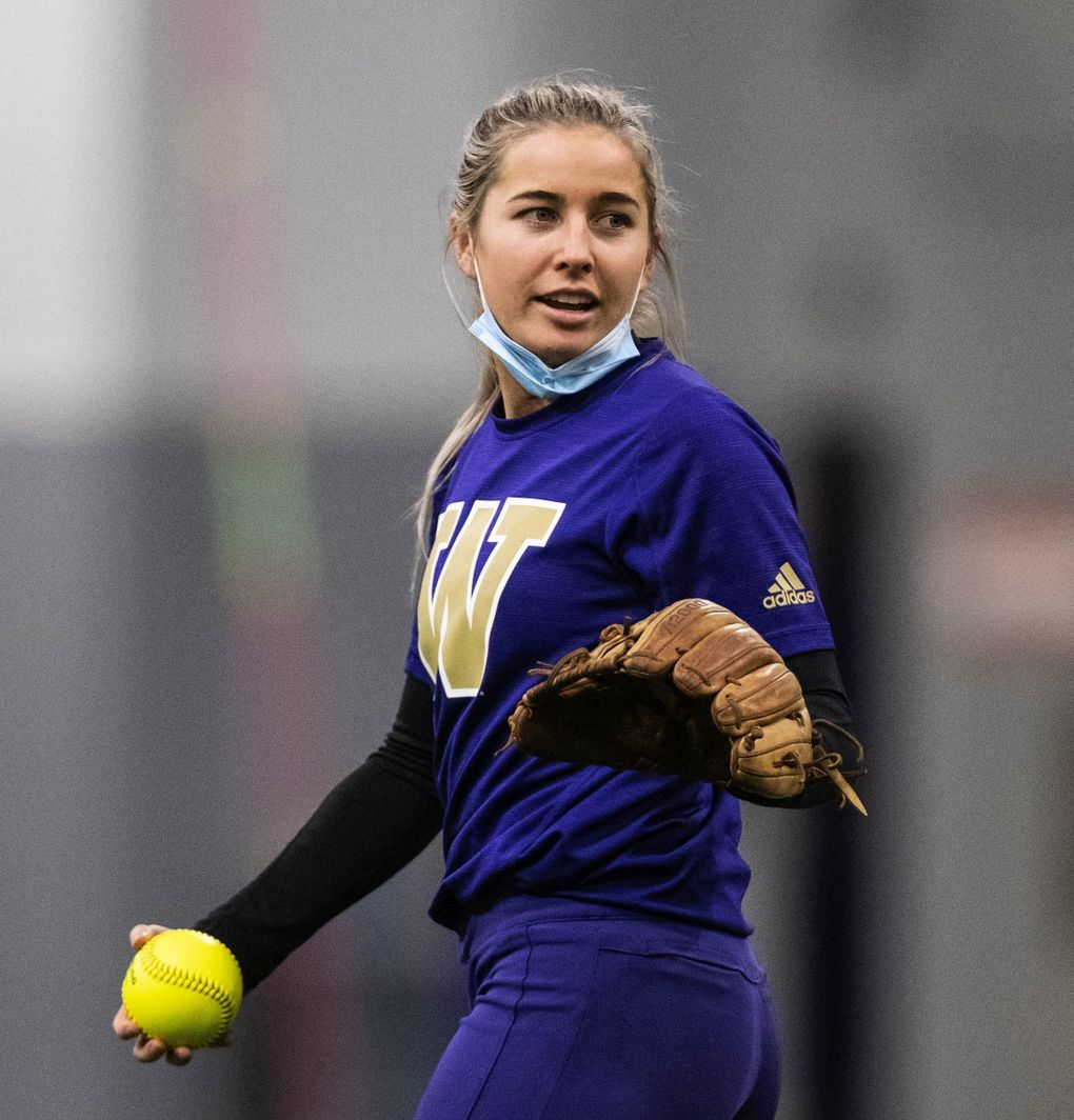 Washington All-American shortstop Sis Bates is grateful to have another season with the Huskies. (Dean Rutz / The Seattle Times)