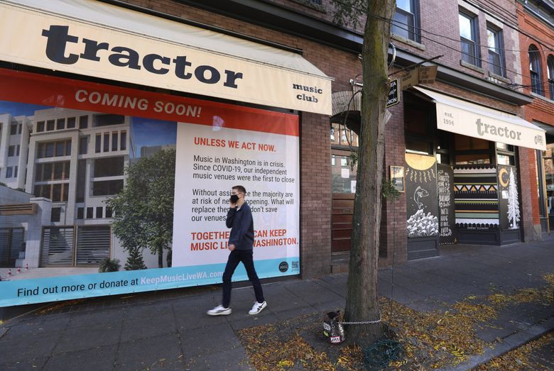 Even though new state guidelines allow music venues to reopen at 25% capacity, many Seattle venues like the Tractor Tavern say they have no plans to reopen at this time. (Ken Lambert / The Seattle Times)