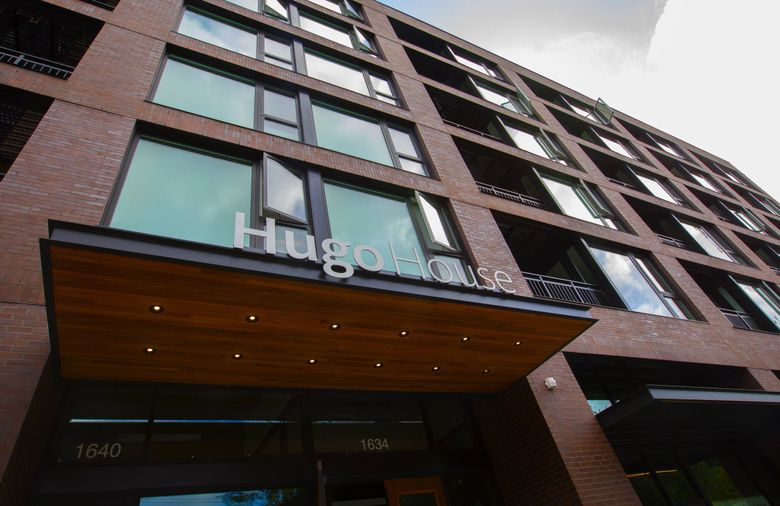 Named for the poet Richard Hugo, Hugo House offers readings, classes, workshops, lectures and more for writers. Originally opened in 1998, it reopened in its new Capitol Hill home in 2018. (Ellen M. Banner / The Seattle Times)