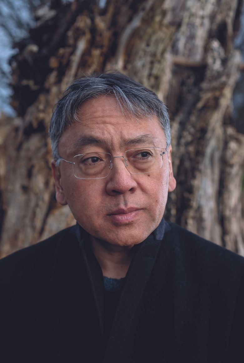 """Kazuo Ishiguro, Nobel Prize-winning author of """"The Remains of the Day,"""" """"Never Let Me Go"""" and other novels, will appear in a live Zoom event March 13 to discuss his new novel, """"Klara and the Sun.""""  (Andrew Testa for The New York Times)"""
