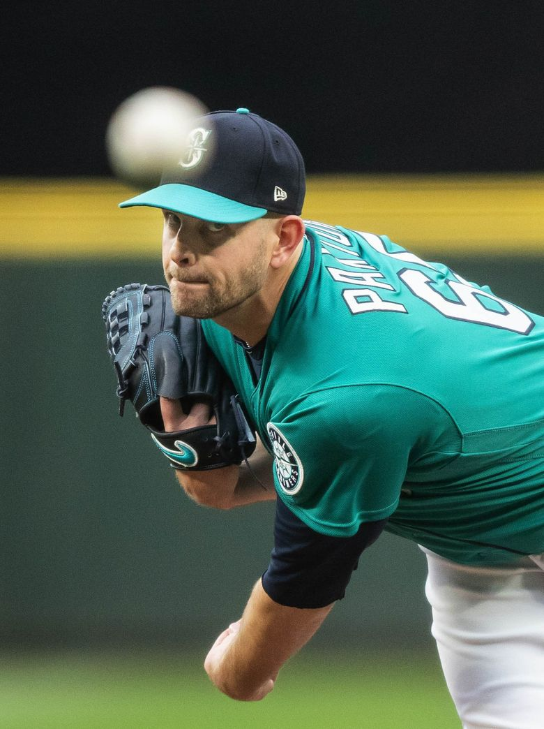 James Paxton pitches against the Minnesota Twins Friday, May 25, 2018 at Safeco Field in Seattle. (Dean Rutz / The Seattle Times)