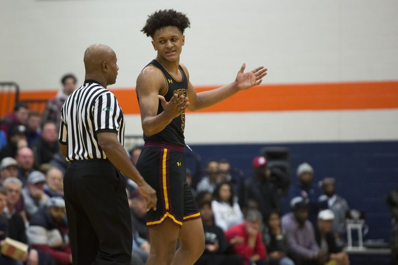 O'Dea forward Paolo Banchero was nominated to be a McDonald's All-American on Wednesday. (Jason Redmond / The Seattle Times)