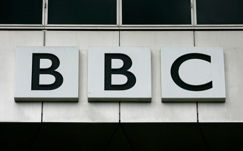 FILE – This Oct. 17, 2007, file photo, shows the BBC, British Broadcasting Corporation sign on their offices at White City in London. China has banned the BBC World News television channel from the few outlets where it could be seen in the country in possible retaliation after British regulators revoked the license of state-owned Chinese broadcaster CGTN. (AP Photo/Kirsty Wigglesworth, File)