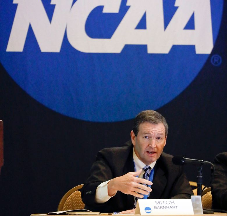 """FILE – In this Jan. 19, 2017, file photo, Mitch Barnhart, athletic director at Kentucky, takes part in a panel discussion at the NCAA Convention in Nashville, Tenn. There is no need to worry about geography in this year's NCAA Tournament. Get ready for plenty of talk about the so-called """"S curve"""" instead. And do not worry — it's not that complicated. (AP Photo/Mark Humphrey, File)"""