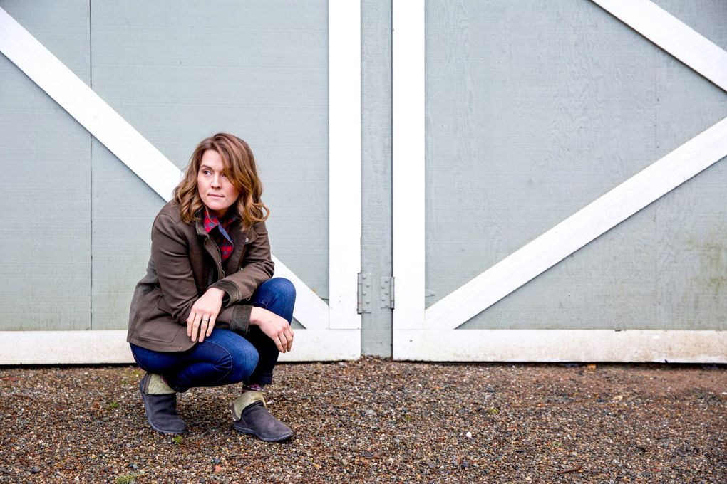 Brandi Carlile at her home in rural Maple Valley in 2018. (Courtney Pedroza / The Seattle Times)