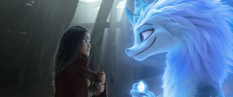 """""""Raya and the Last Dragon"""" features the voices of Kelly Marie Tran as the warrior princess and Awkwafina as the dragon Sisu. (Disney)"""
