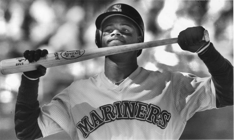 Ken Griffey Jr. at spring training in March 1989.  (Mark Harrison / The Seattle Times)