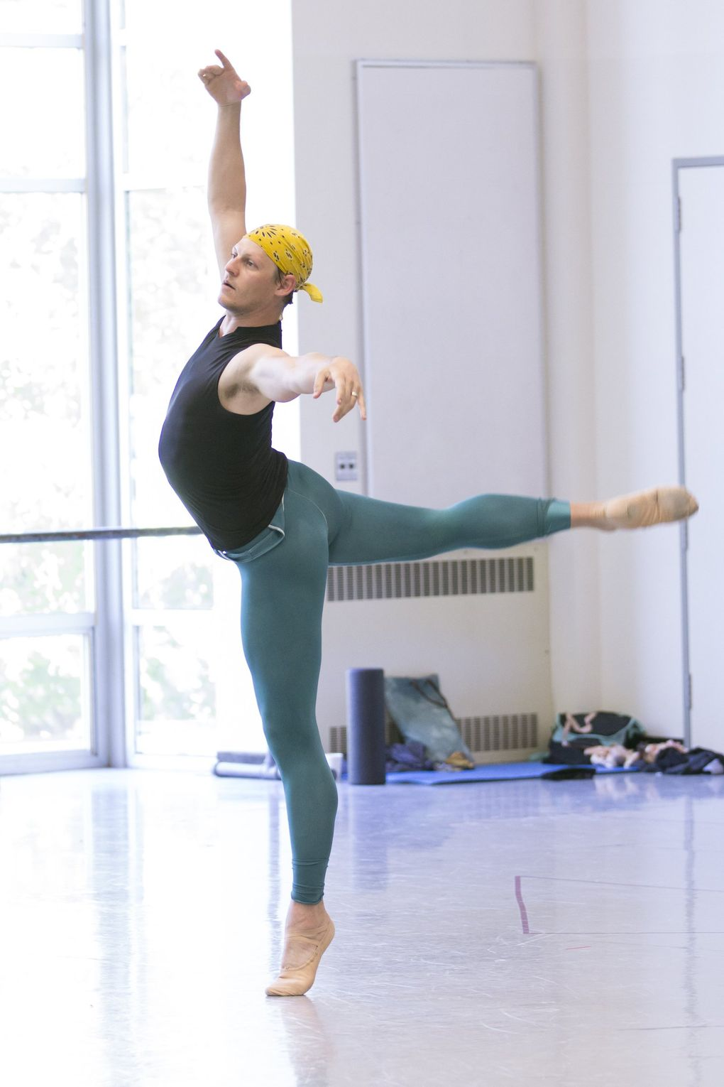 Pacific Northwest Ballet soloist Joshua Grant has danced on pointe when he was a member of Les Ballets Trockadero de Monte Carlo. Grant is currently choreographing a new work that will feature Ashton Edwards on pointe. (Lindsay Thomas)